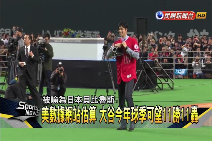 知名數據網站估算 大谷翔平今年11勝11轟