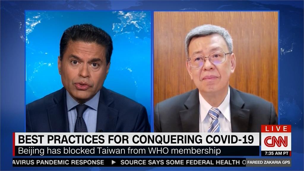 快新聞/台灣防疫再躍升國際 陳建仁登上CNN分享成功經驗