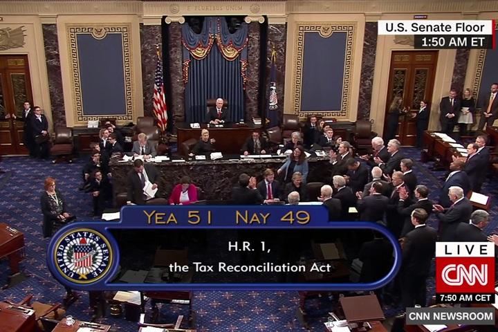 川普執政重大勝利 美參議院51比49通過稅改法案