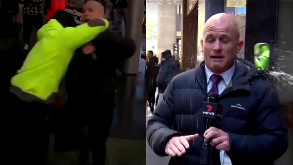 慘況曝光!記者連線墨爾本示威暴動 慘遭「K頭濺血」勒頸還潑尿