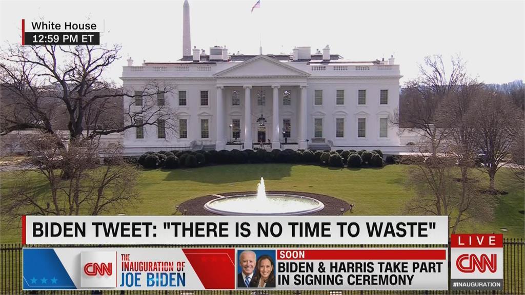 拜登就職 用總統帳號首推文