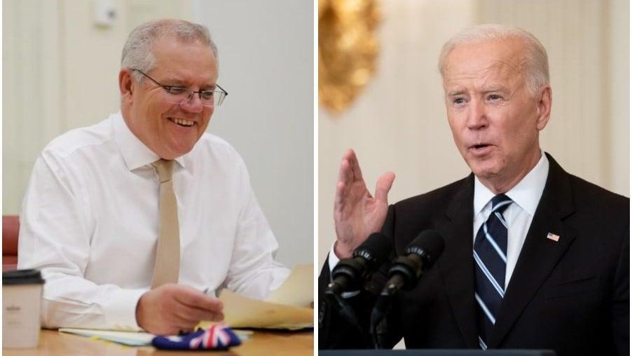 78歲拜登突忘澳洲總理名!尷尬稱「這位紐澳哥們」記者會影片網瘋傳