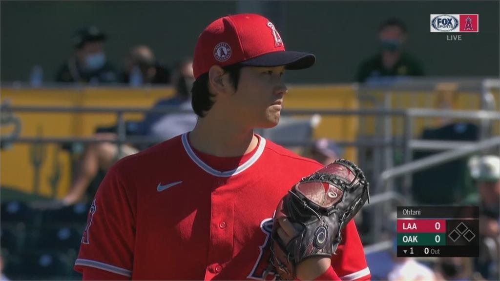MLB/二刀流回來了!大谷翔平春訓首發1.2局飆5K