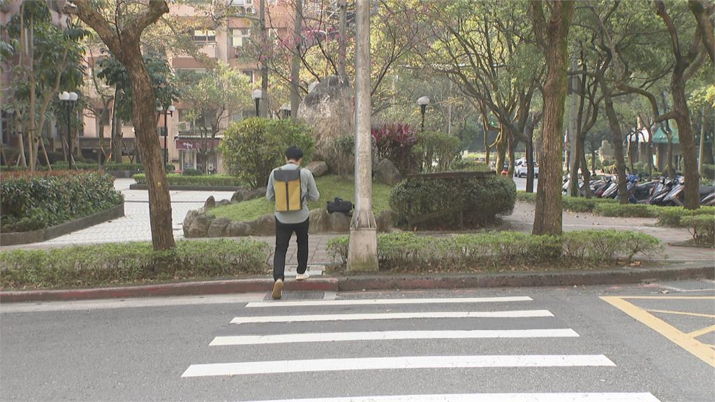 斑馬線盡頭路燈擋路 長者.輪椅族難通行