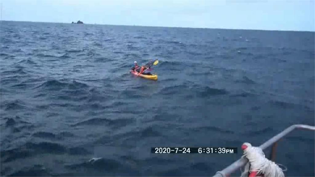 體驗<em>獨木舟</em>卻遇海象不穩!6遊客無力滑回岸邊 海巡前往救援