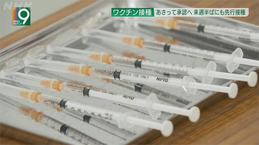 首批輝瑞疫苗抵日本 經批准後最快下周起施打