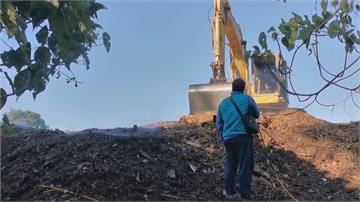 木屑回收廠悶燒釀空污 嘉縣中埔鄉三村抗議
