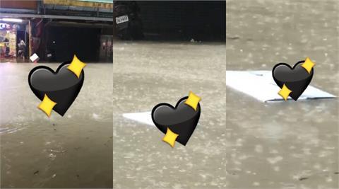 「漂浮米奇」2後腳站保麗龍上「觀察水勢」 網:鼠鼠pi的奇幻漂流