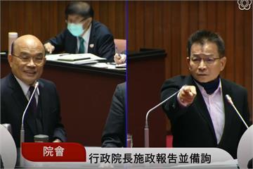 快新聞/賴士葆質詢拍桌「我叫你惦惦!」 蘇貞昌:法律之前要有修養