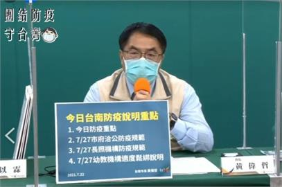快新聞/防疫警戒若降級 黃偉哲:台南寧可比中央嚴格一點