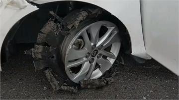 駕駛拒檢衝撞警車 警開10多槍破胎逮4人