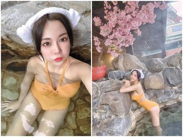 樂天桃猿啦啦隊女神巫苡萱泡湯 黃色泳衣曝「邪惡視角」網友嗨:太辣了!