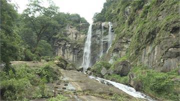 連續降雨帶來美景!雲林草嶺蓬萊瀑布氣勢磅礡
