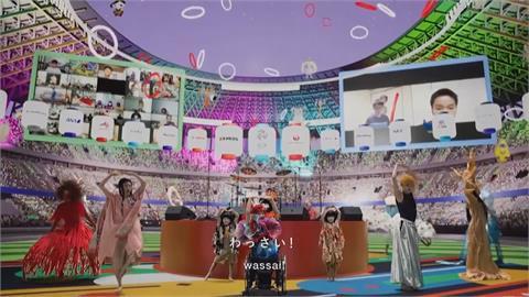 結合真人與虛擬造景 東奧線上開幕典禮吸睛