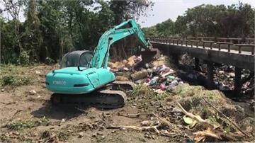 雲林高鐵站郊區遭倒廢物淪垃圾山 民眾檢舉被當皮球