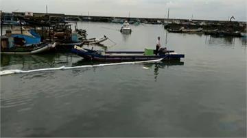台子漁港加油站5噸柴油流入海 緊急清污攔油