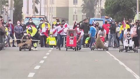 祕魯環保「瘋狂賽車」! 回收物打造「七龍珠車」奪冠