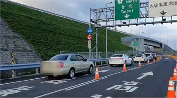 快新聞/中秋連假次日國5湧現北返塞車潮 宜蘭坪林車速僅30多公里