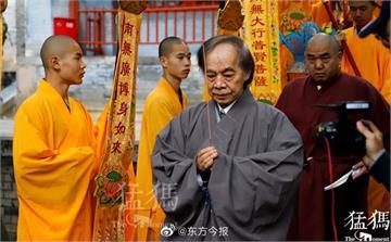 快新聞/72歲漫畫大師蔡志忠剃度出家少林寺 法名釋延一