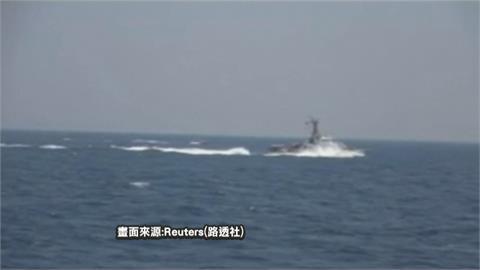13艘伊朗快艇刻意逼近 美軍警告射擊30發子彈