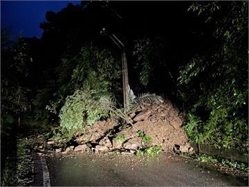 快新聞/宜蘭三星清水地熱產業道路土石坍方 目前道路中斷待清除