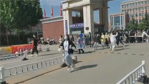 河北地質大學放假禁離校 逾百學生突破封鎖衝出校門