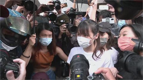參與「反送中」運動判刑10月 周庭服刑近7月出獄