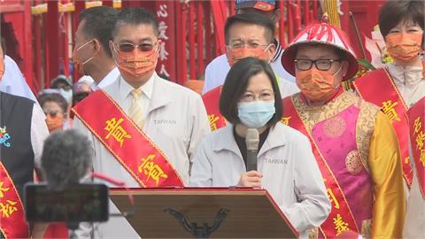 快新聞/疫情升溫籲民眾戴好口罩 蔡英文:疫情守護住經濟會更好