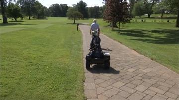 打高爾夫也要防疫!多功能機器人桿弟上陣