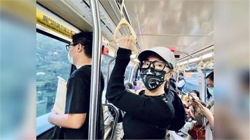 搭捷運捕獲野生女神?! 陳美鳳口罩鴨舌帽戴好偽裝術成功沒被認出!