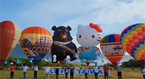 快新聞/HELLO KITTY熱氣球池上首航 鄉民反彈:饒了池上鄉民