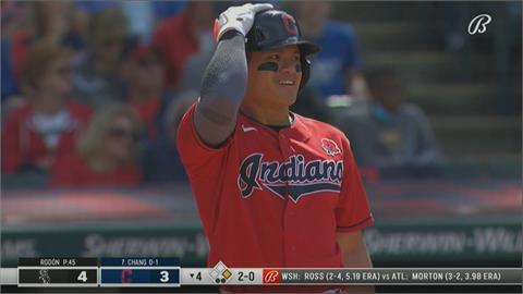 對決今年無安打投手羅當  張育成揮出一分打點二壘安打