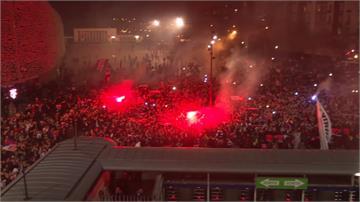 歐冠閉門比賽難防疫!3000球迷場外「沒戴口罩」唱歌加油