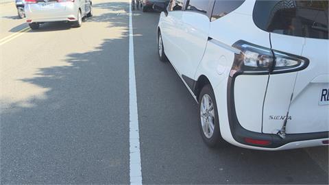 路邊白線停車「一週六罰單」 警:寬10公分是機慢車道不能停