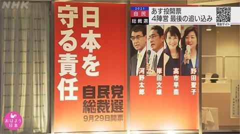 日自民黨魁明出爐 4候選人最後拜票