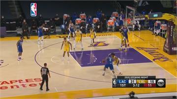 NBA/衛冕軍開幕戰失利!詹皇再繳全能身手 湖人雙星追分不敵快艇