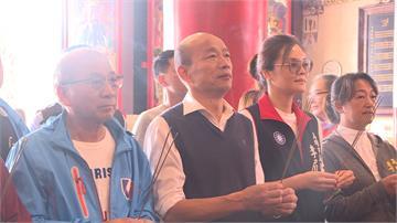 韓國瑜小年夜蓮池潭走春 要媒體「別問黨主席選舉」