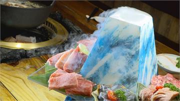 燒烤浮誇系 A5和牛堆「燒肉富士山」備料到火烤 供專屬桌邊服務