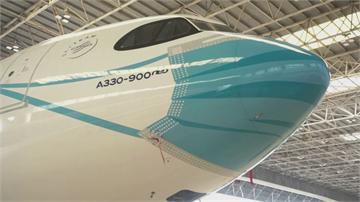 """口罩人人必備 飛機也""""戴""""口罩 印尼推出彩繪口罩客機"""
