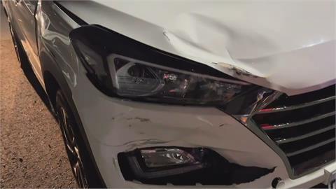 女駕駛不滿被擦撞 對方竟未下車關切 尾隨追車攔人理論 恐涉強制罪