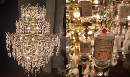 快新聞/致敬防疫人員! 美醫護利用疫苗空瓶製水晶吊燈命名「感謝之光」
