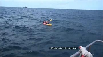 體驗獨木舟卻遇海象不穩!6遊客無力滑回岸邊 海巡前往救援