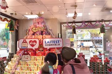 超美! 萊潔 X 萊爾富「炫彩口罩搭成耶誕蛋糕樹」 傳遞防疫新幸福
