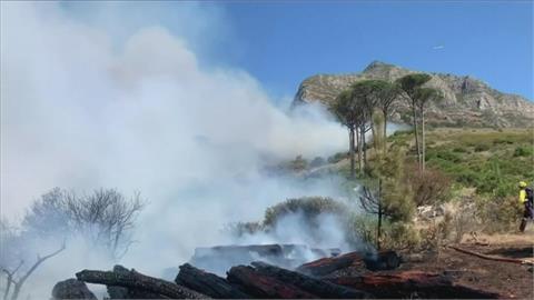 南非桌山國家公園爆野火 波及開普敦大學 學生趕緊撤離