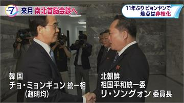 南韓總統睽違11年訪北朝鮮 文金會9月在平壤