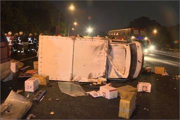 天雨路滑視線不佳?國道9車追撞4人傷