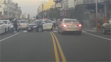 竊車賊拒捕撞警車逃逸  遭警圍捕束手就擒
