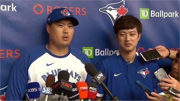 MLB/4年8000萬美元加盟藍鳥 柳賢振春訓亮相