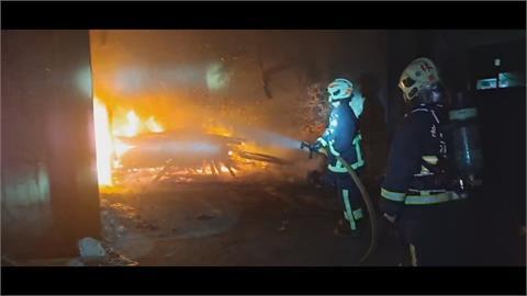 車體工廠打造磚窯煙囪 要保全燒毀車體及棧板