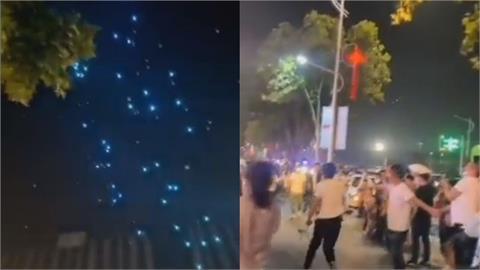 中國連假又出事!鄭州百架無人機表演中突墜地險砸人 網酸:要限電啦